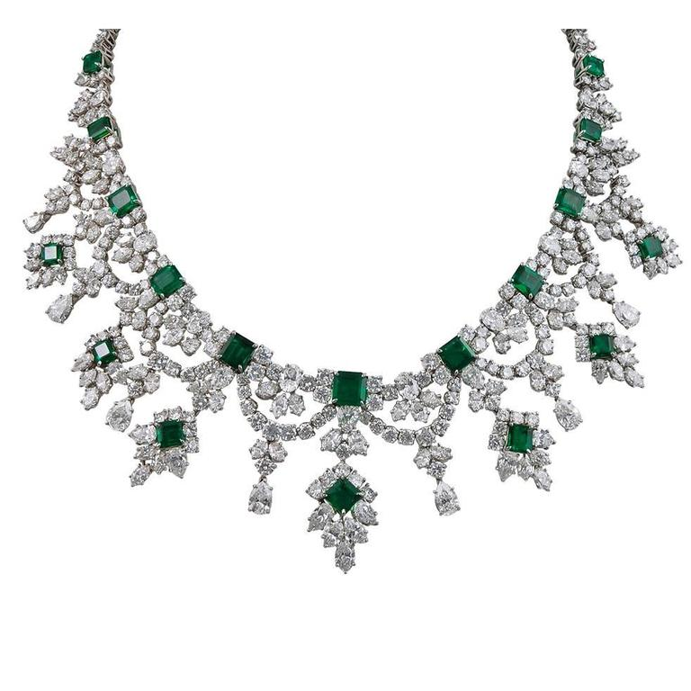 jewelry graduated with diamond zigzag necklace nl drop in single gold white green emerald wg line