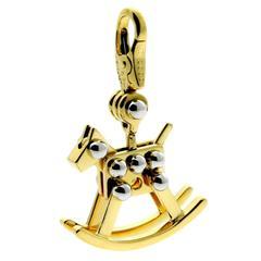 Cartier Rocking Horse Charm Gold Pendant