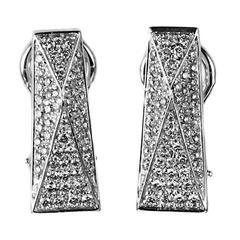 Versace Pave Diamond Gold Earrings