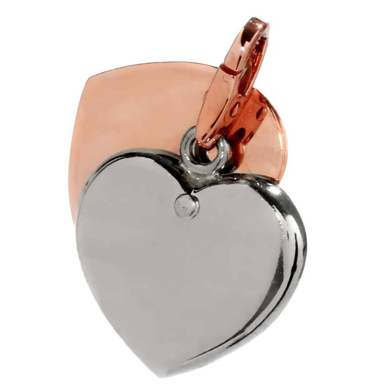 Cartier Heart Two-Color Gold Charm Pendant For Sale