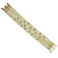 Cartier Draperie de Decollete Diamond Gold Bracelet