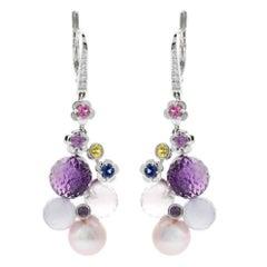 Chanel Mademoiselle Pearl Diamond Gold Earrings