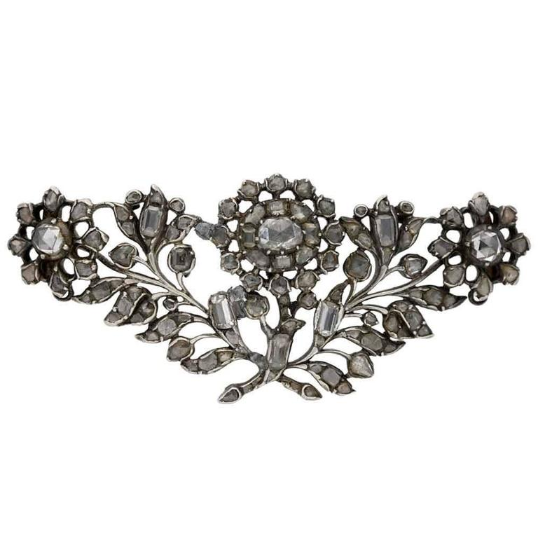 1740s Georgian Diamond Brooch