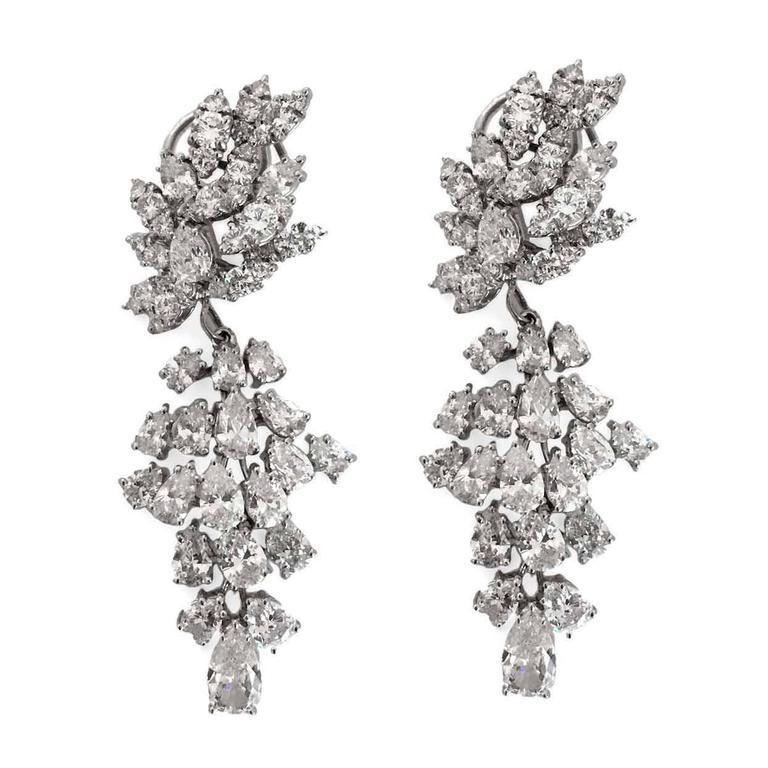 "Incredible Diamond Platinum ""Day to Gala"" Earrings 2"