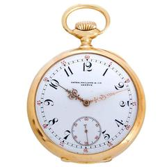Patek Philippe Yellow Gold Manual Wind Pocket Watch
