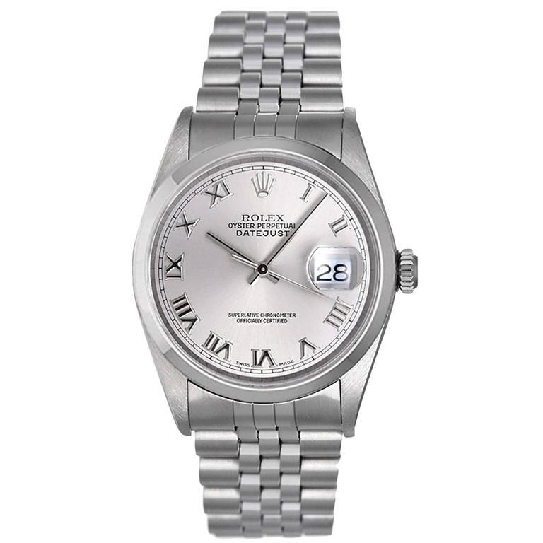 Rolex Stainless Steel DateJust Automatic Wristwatch Ref 16200