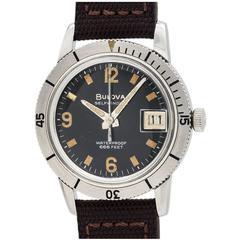 Bulova Stainless Steel Diver's Wristwatch Ref 386-1