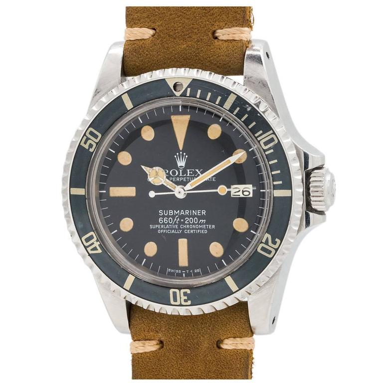 Rolex Stainless Steel Submariner Wristwatch Ref 1680 1977