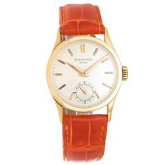 Patek Philippe Yellow Gold Calatrava Manual Wind Wristwatch Ref 96
