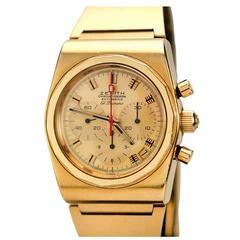 Zenith Yellow Gold El Primero Chronograph Wristwatch