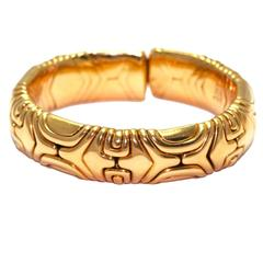 1988 Bulgari Gold Semi-Rigid Bracelet