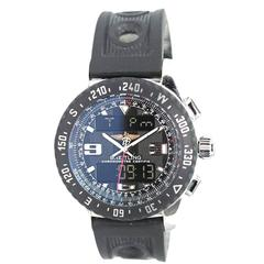 Breitling Stainless Steel Professional Airwolf Raven Quartz Wristwatch