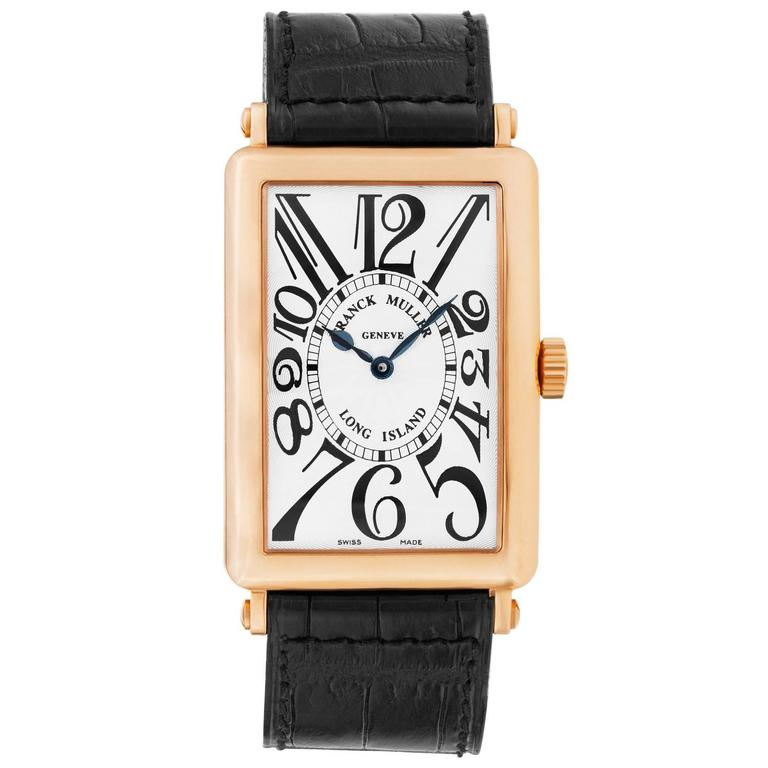 Franck Muller Yellow Gold Long Island Master Complications Automatic Wristwatch For Sale