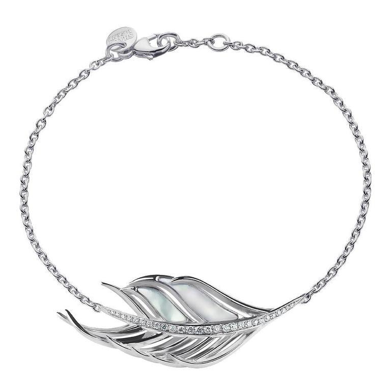Shaun Leane Diamond Silver Feather Bracelet