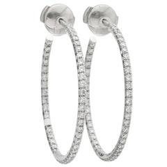 Tiffany & Co. Diamond Gold Hoop Earrings