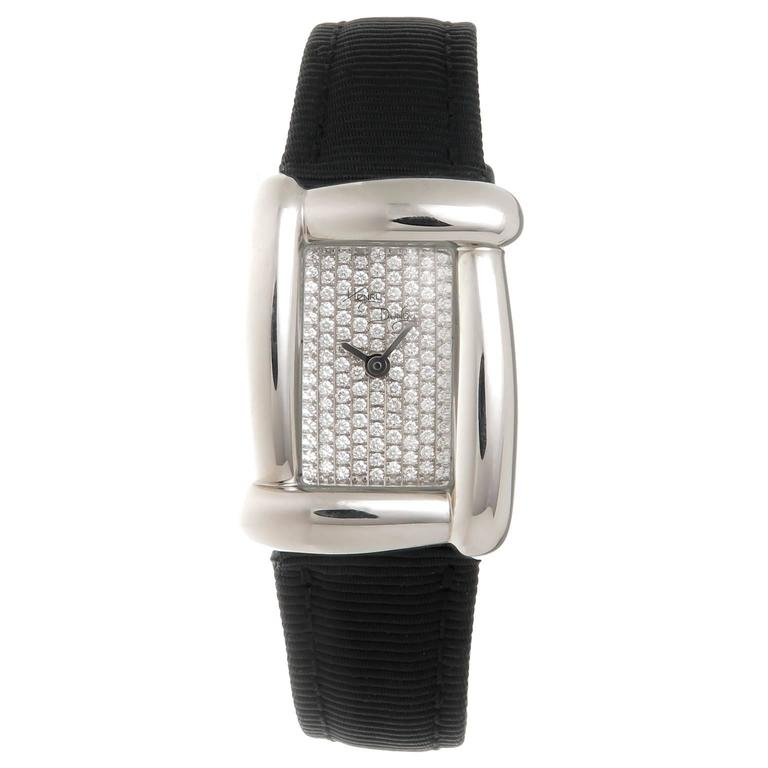 Henry Dunay Lady's Stainless Steel Diamond Medea Quartz Wristwatch