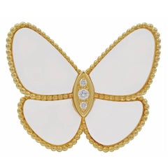 Van Cleef & Arpels Mother-of-Pearl Gold Butterfly Clip