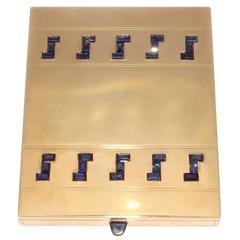 Important 1940s Mauboussin Sapphire Gold Box