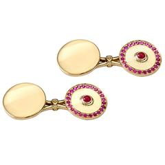 Ruby Gold Pushkin Cufflinks