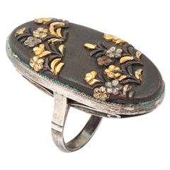 Victorian Japanese Shakudo Ring