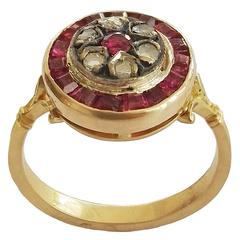 1920s Ruby Gold Ring