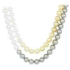 11.00-12.50 Multicolor South Sea Pearl Necklace