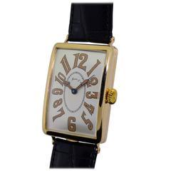 H. Moser Yellow Gold Gondolo Wristwatch, circa 1920s