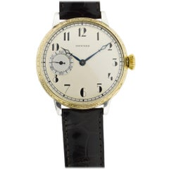 Howard Yellow Gold Filled Art Deco Dial Oversized Watch, circa 1930s