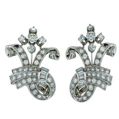 3 Carats Diamonds Platinum Earrings