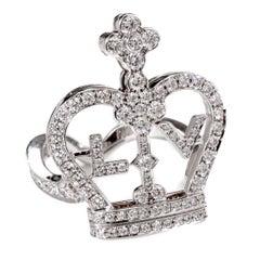 Louis Vuitton Diamond Gold Crown Ring