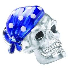 Deakin & Francis Blue Skull Bandana Lapel Pin
