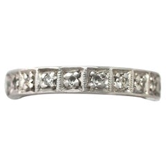 1940s Diamond and White Gold Full Eternity Ring- Size 4 5/8