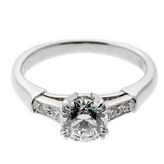 Harry Winston Diamond Platinum Engagement Ring