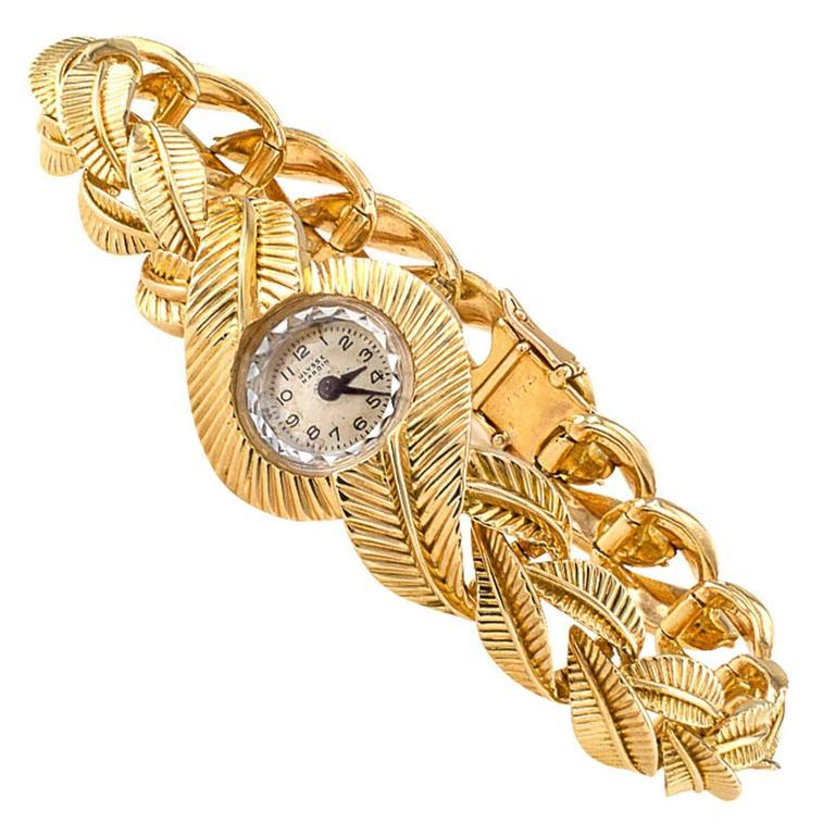 Van Cleef & Arpels Ulysse Nardin Ladies Yellow Gold Bracelet Wristwatch