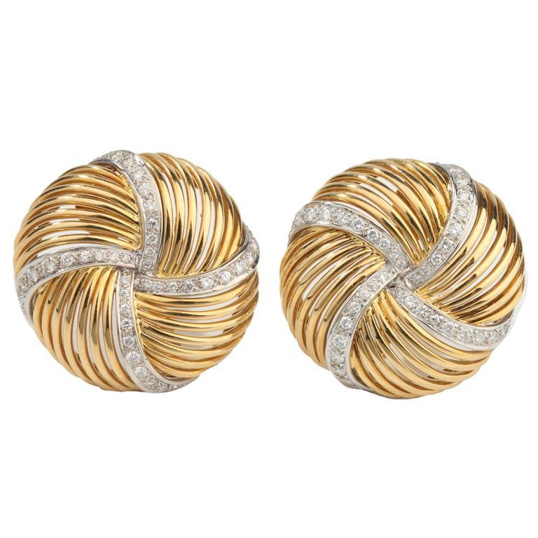 Sabbadini Diamond Gold Earrings