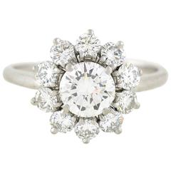 Cartier Diamond Platinum Cluster Ring