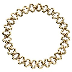Jean Vitau Gold Clover Necklace