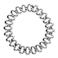 Jean Vitau Diamond Gold Clover Necklace