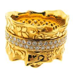 Carrera & Carrera Cervantes Diamond Gold Band Ring