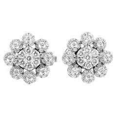 Pasquale Bruni Diamond Gold Flower Earrings