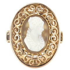 Early 20th French Antique Gold Cameo Ring