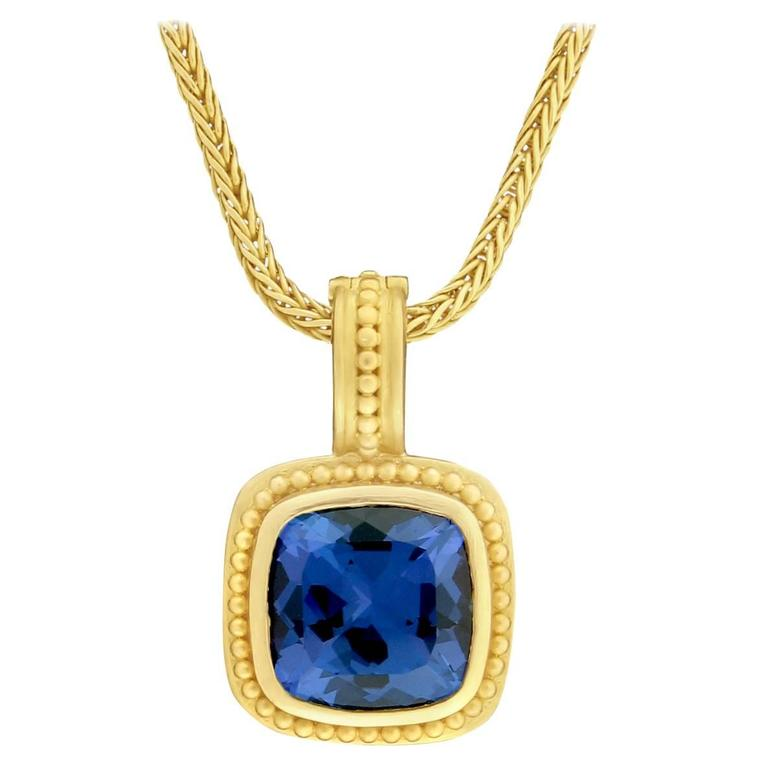 Carolyn tyler tanzanite gold pendant at 1stdibs for Carolyn tyler jewelry collection