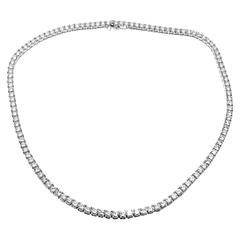Cartier 15.47 Carats Diamonds Tennis Line Platinum Necklace