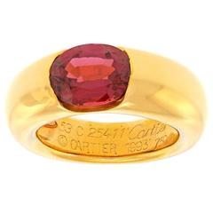 1993 Cartier Pink Tourmaline Gold Ring