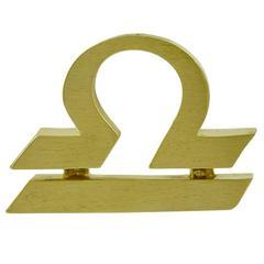 Cartier Gold Libra Pendant