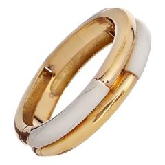 Tiffany & Co. Ivory Gold Bangle Bracelet