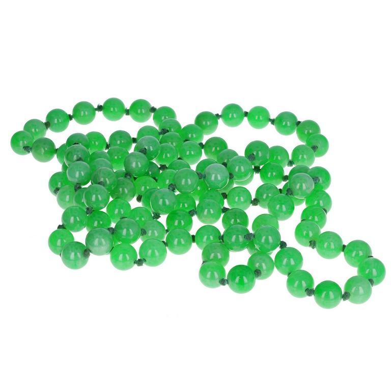 Natural Untreated Green Jadeite Beads