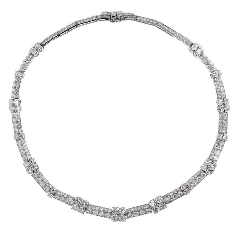 1930s Cartier Diamond Platinum Necklace