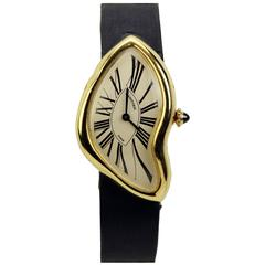 Cartier Yellow Gold Limited Edition Crash Wristwatch