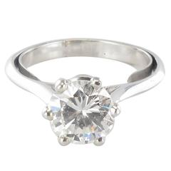 1.60 Carat Diamond Gold Solitaire Ring